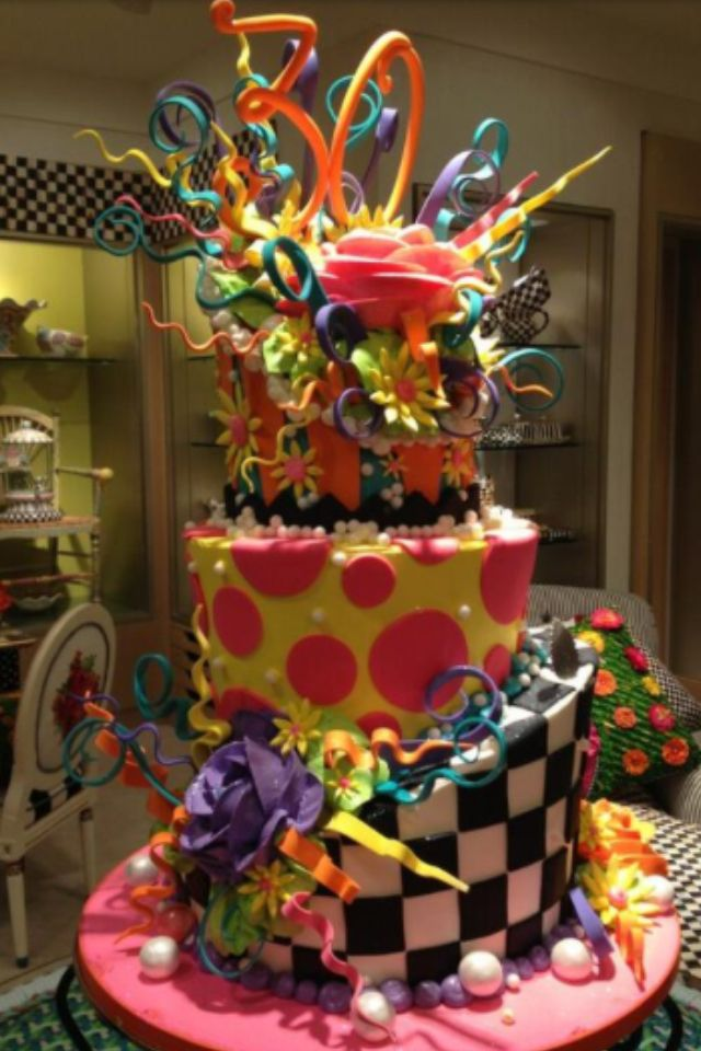 Ok i want this for my 30 th birthday cake. Mackenzie Childs Cake
