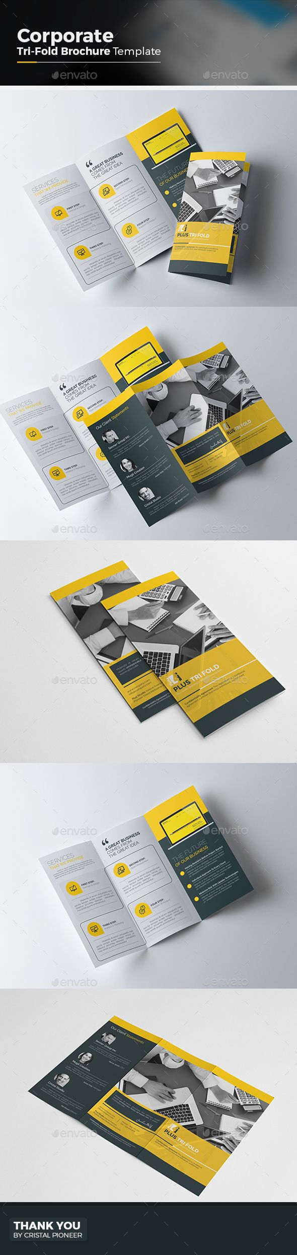 Corporate Tri fold Brochure Template Vector EPS, AI. Download here: http://graphicriver.net/item/corporate-tri-fold-brochure/15171746?ref=ksioks
