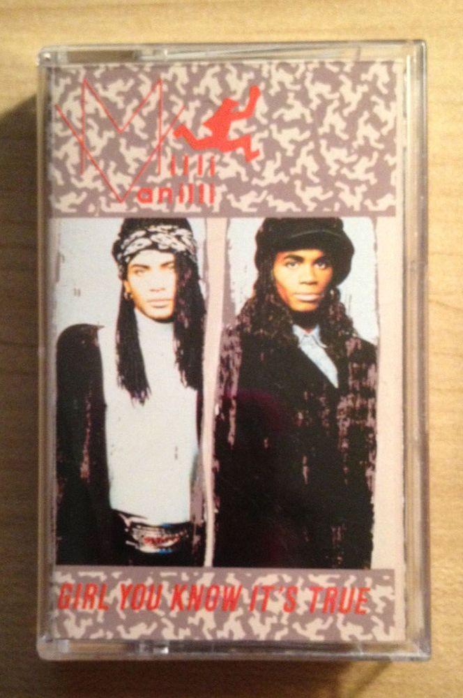Milli Vanilli Girl You Know It's True Cassette Tape Arista 1989 Frank Farian #Dance