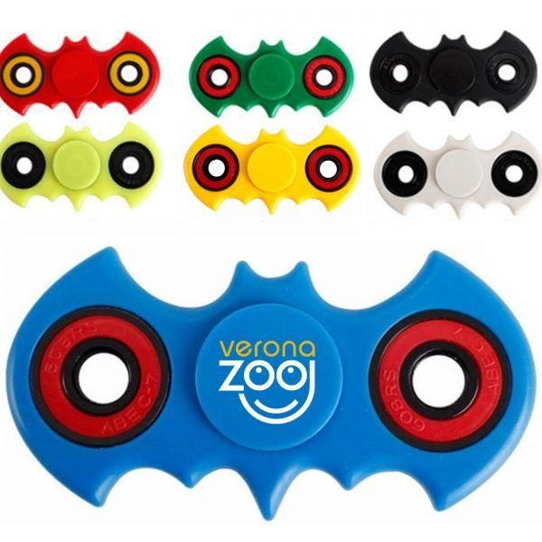 Custom Fidget Spinner – Bat is a fidget hand spinner toy shaped as your favorite bat-themed superhero! Easy To Carry and ergonomic Two Rings for easy spinning. It's precise balance and weight are packed into a great size that fits easily in your pocket! Your clients will love receiving one of these at your next trade show!