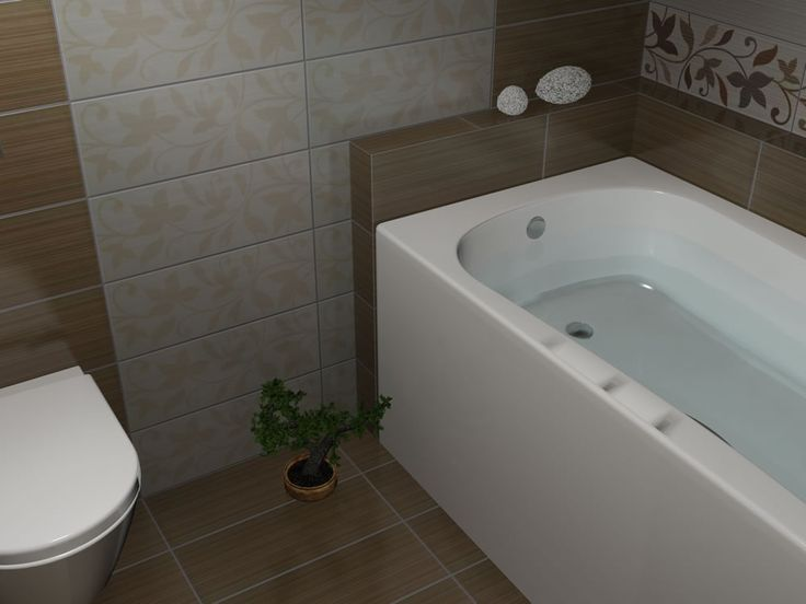 Αμέσως μετά την μπανιέρα τοποθετήθηκαν τα ειδικά τεμάχια της σειράς Joy Wall 20x50cm με κάθετη ροή. Γενικά ο αριστερός τοίχος από την είσοδο του μπάνιου ακολούθησε κάθετη διακόσμηση και έτσι ξεχώρισε από το υπόλοιπο μπάνιο.