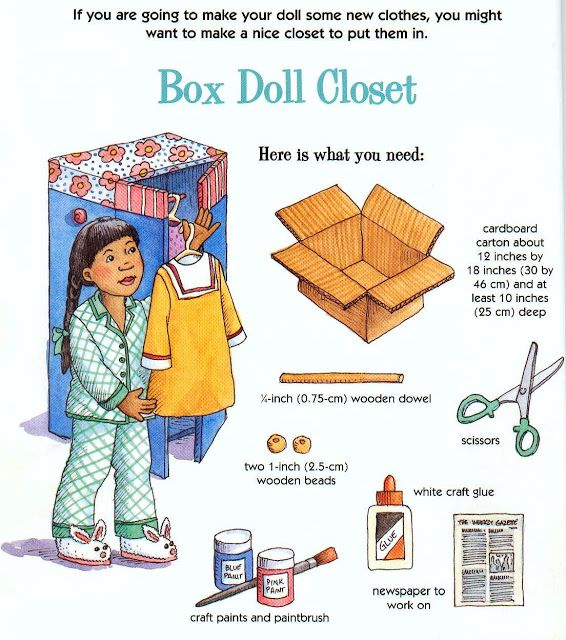 "Living A Doll's Life : How To Make 18"" Doll Closet"