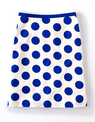 Boden Printed Cotton Skirt