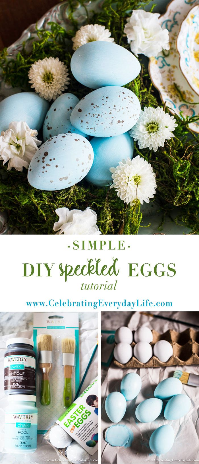 Let's make easy DIY speckled Eggs! Not only is this an easy and cheap Easter craft, it's also pretty Spring decor. Check out the easy tutorial to make some. via @jencarrollva