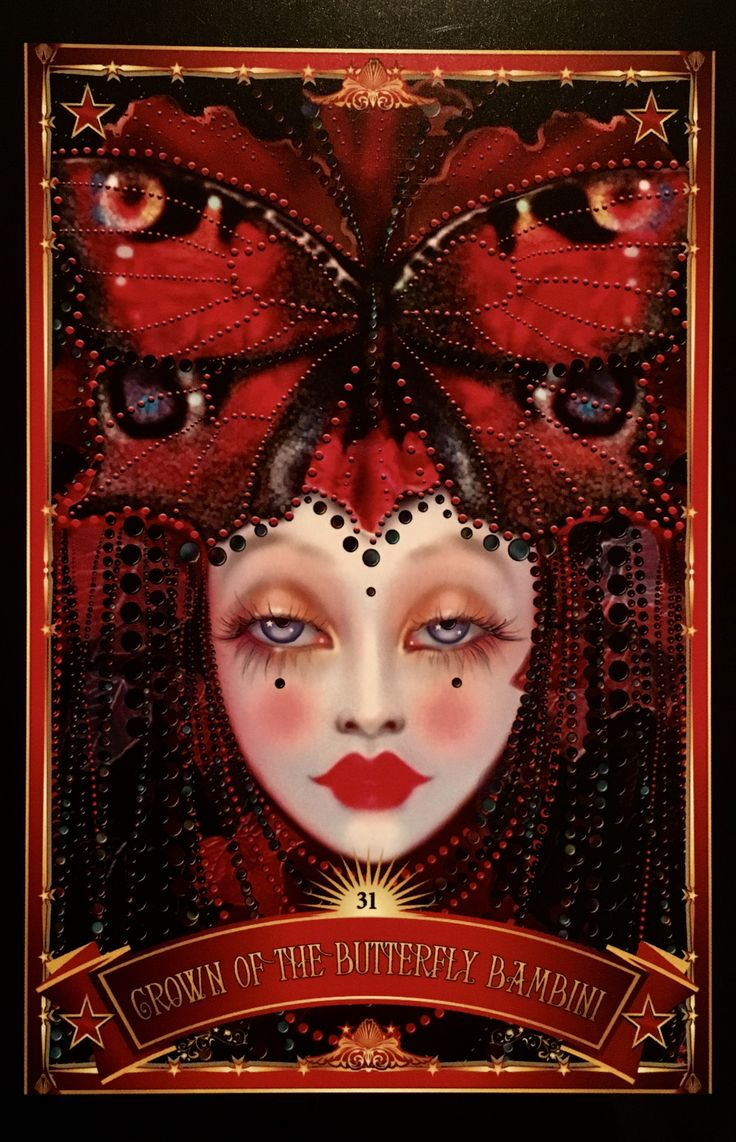 Crown Of The Butterfly Bambini, from the Divine Circus Oracle Card deck, by Alana Fairchild, Artwork by Maxine Gadd
