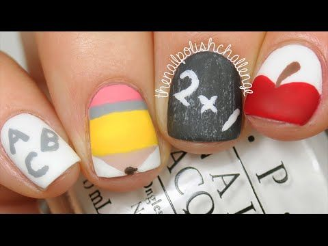 nail art - back to school