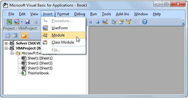As a beginner to Excel VBA, you might find it difficult to decide where to put your VBA code. This example teaches you how to run code from a module.
