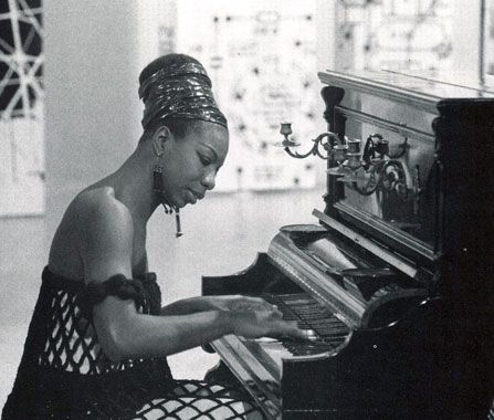 At Nina Simone's first recital at age 12, she refused to begin until her parents were allowed to sit in the front row, where they were sitting before they were forced to move to the back row. Happy MLK day.