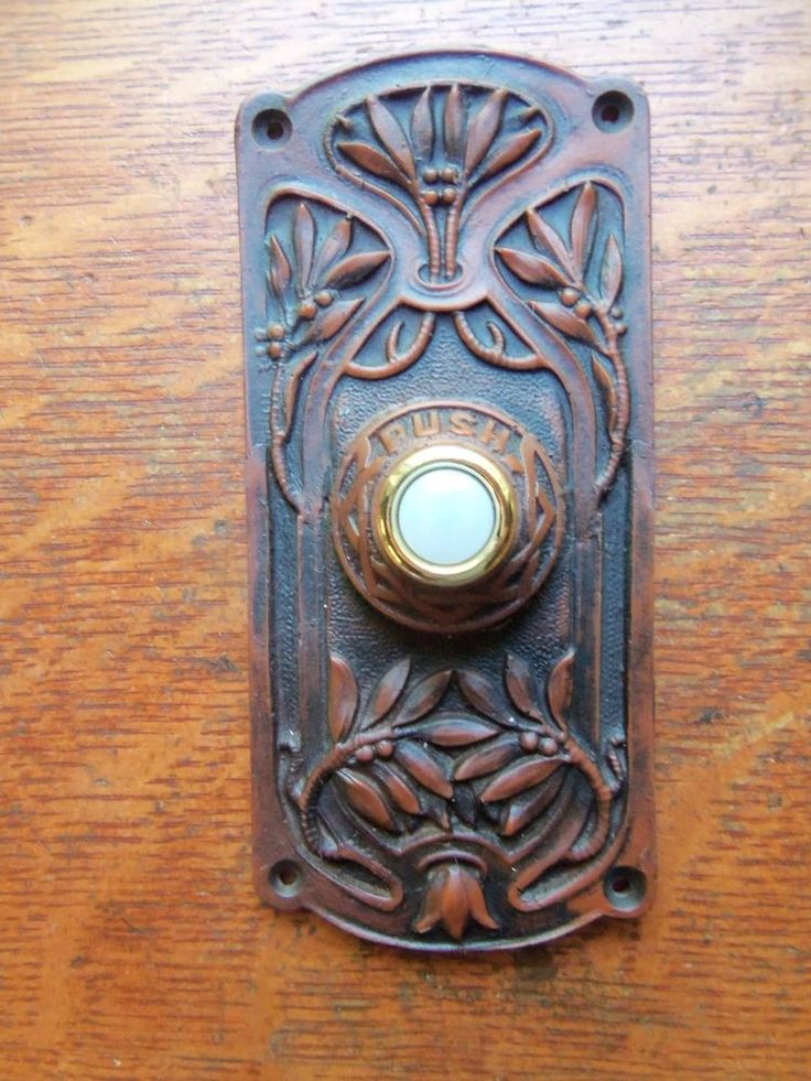 "New Victorian Craftsman Eastlake ""Olive Tree"" Doorbell Button #Victorian #Doorbell"