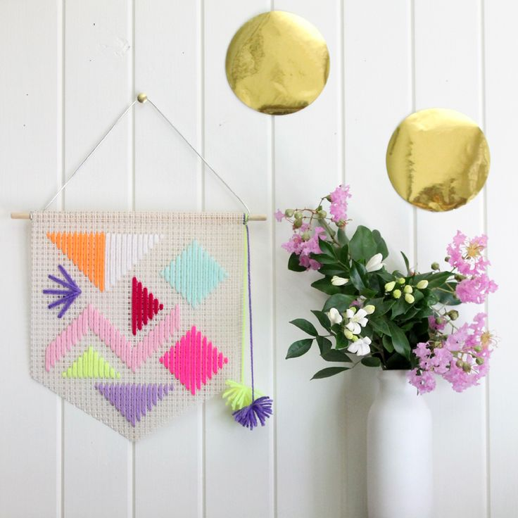 Popping Candy hand woven wall hanging