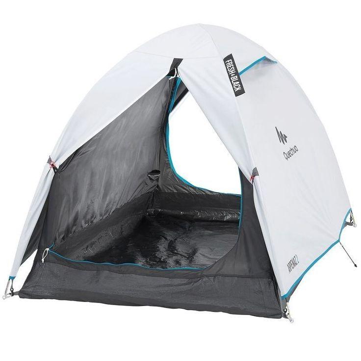 Quechua Arpenaz Campingzelt für 2 Personen Stangenzelt Kabine Zweimannzelt Zelt