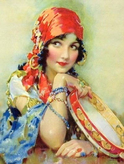 Gypsy Living Traveling In Style| Fine Art Gypsy Woman | Serafini Amelia