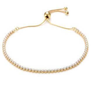 Diamonique 2.4ct tw Everyday Friendship Bracelet Sterling Silver