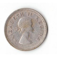 1957 UNION OF SOUTH AFRICA SILVER 3 PENCE for R15.00