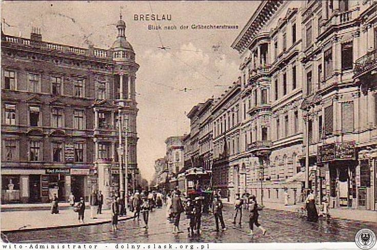 Sonnenplatz (pl. Legionów)-wlot Gräbschenerstrasse (Grabiszyńska) Lata 1900-1910