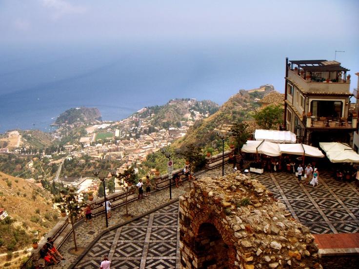 Terrazza panoramica di Castelmola, Sicily