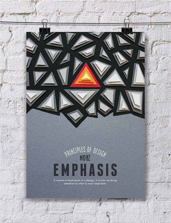 EMPHASIS - Turkish designer, Efil Türk has given us a beautiful collection of hand made posters detailing the elements of design. Using a combination of techniques such as paper cutting and photo manipulation, she's provided us with a delightful series that isn't afraid to both enchant and educate.