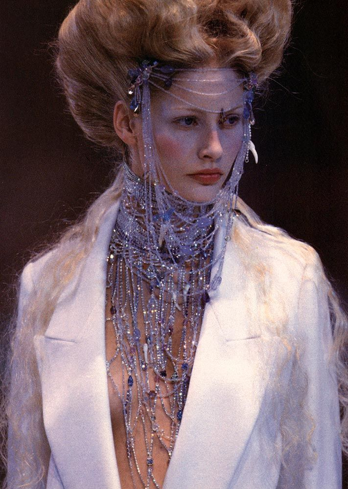 Kirsty Hume in Givenchy by Alexander McQueen, Fall Winter 1998 Haute Couture