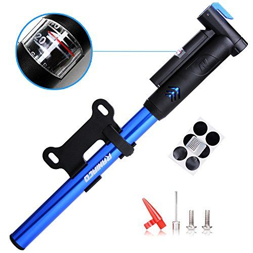 mini bike pumpraniaco 120psi portable bicycle frame pump with gaugehigh pressure cycling