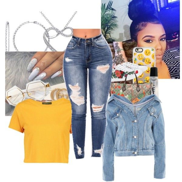 A fashion look from January 2018 featuring Boohoo t-shirts, Topshop jackets and Gucci sneakers. Browse and shop related looks.