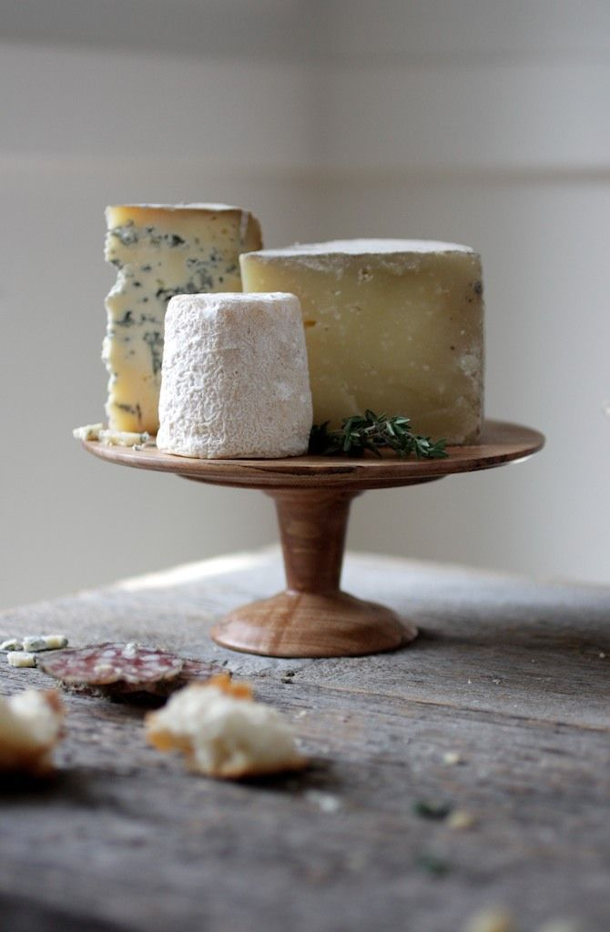 nice rustic cheese presentation