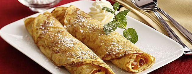 Palatschinken - Austrian Pancakes - Austria's version of pancakes, Palatschinken are delicious with sweet and savoury fillings, or chopped into soups. Austrian Pancakes © Österreich Werbung / Eisenhut & Mayer