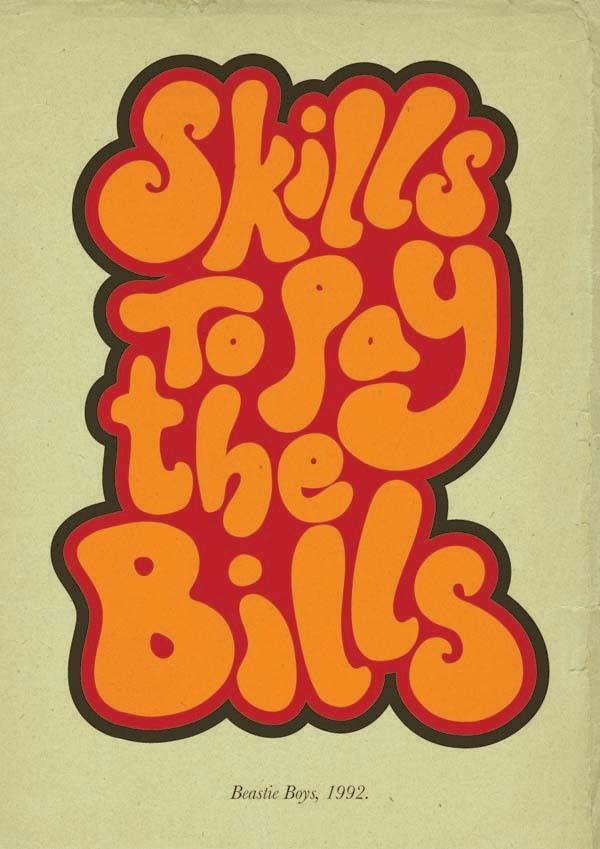 Hip Hop Quote Posters by Ollie Saward, via Behance