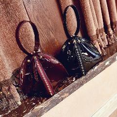 [ 24% OFF ] Triangle Shape Clutch Women Evening Bag Patent Leather Wristlet Purses Small Handbags Herald Fashion S