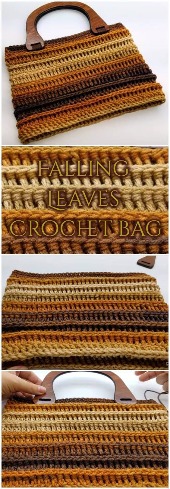 Falling Leaves Crochet bag