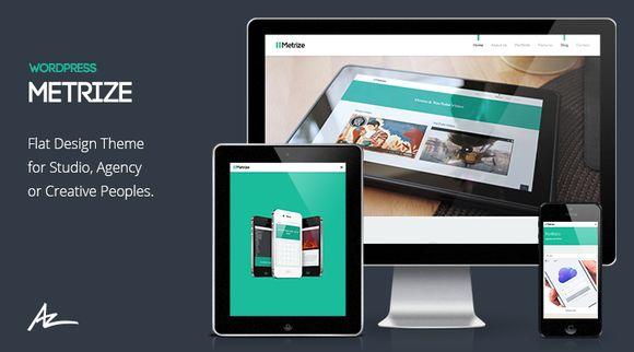 Check out Metrize - Portfolio & Blog Theme by Bluxart on Creative Market