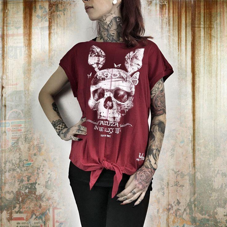 Dead Bunny Knot T-Shirt - Czerwony