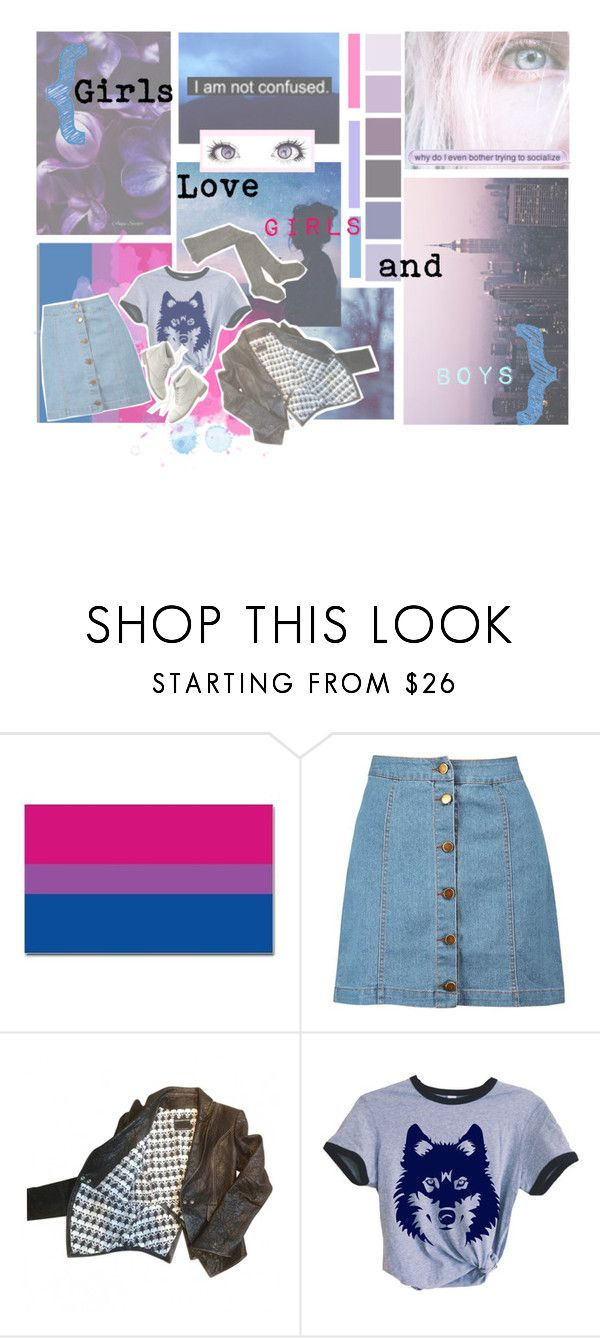 """""""B is for Bisexual"""" by xxfantasy-freakxx ❤ liked on Polyvore featuring Boohoo, Thomas Wylde, Madewell, pride, lgbt and bisexual"""