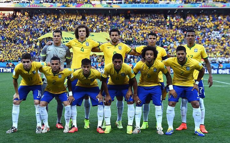 Brazil team versus Croatia in the opening match of the World Cup 2014