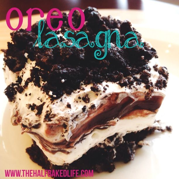 Oreo Lasagna - So quick, easy and delicious! You don't even have to make the chocolate pudding in this recipe because it substitutes snack pack prepared pudding! Cook's Note: Made this on 2-20-15 and it was delicious and a big hit at the men's ministry meeting. Definitely a keeper!! ~VLS~