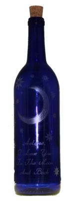 Oh, I do LOVE this! I Love You To The Moon and Back Message in a Bottle