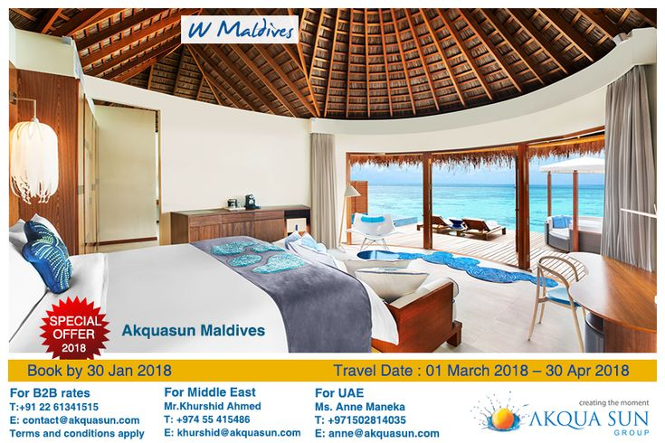 W #Maldives is a luxury private island resort in a wonderland of white sand #beaches, turquoise lagoons and breathtaking house coral reefs. The 5-star #resort features 77 luxurious private escapes – each with its own plunge pool and sundeck. Six gourmet #restaurants and #lounge bars aesthetically located across the #island inviting you in for the ultimate indulgence. Amplify your experience in paradise by experiencing the crystal blue #ocean and exploring the island's private reef…