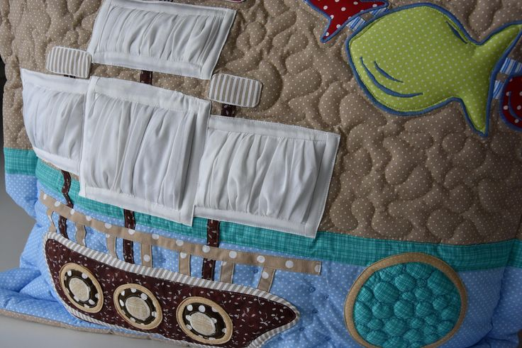 pirate cushion, corsair pillow,corsair cushion,decorative pirate cushion,decorative corsair pillow,name cushion,patchwork cushion for boy, by Kajura on Etsy