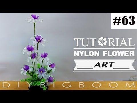 Nylon stocking flowers tutorial #36, How to make nylon stocking flower step by step - YouTube