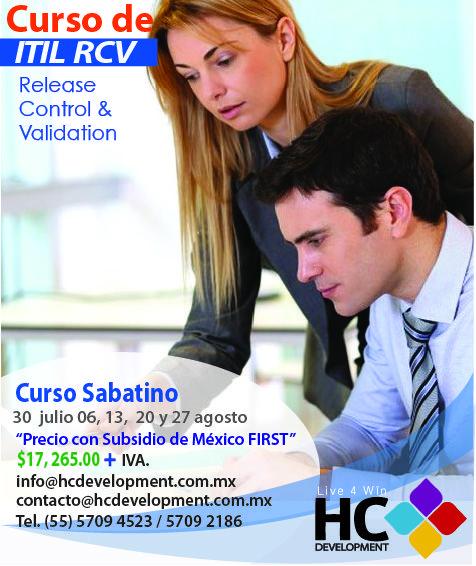 ¿Te gustaría conocer a fondo  los procesos utilizados en la liberación del Servicio? Asiste a nuestro curso de RCV y obtén la certificación