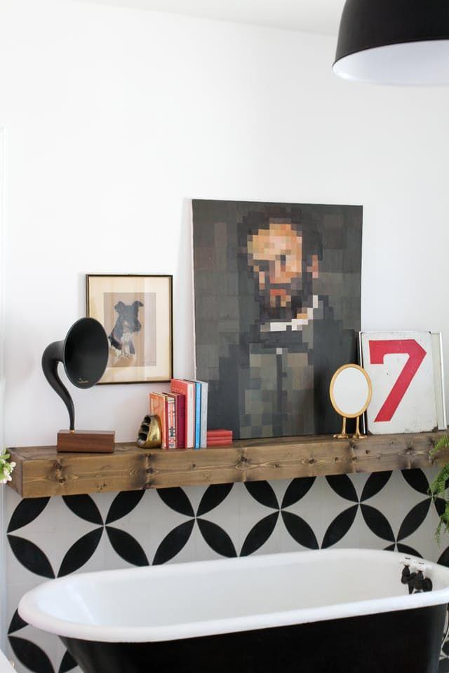 1000 ideas about floating shelves bathroom on pinterest floating shelves kitchen spice racks. Black Bedroom Furniture Sets. Home Design Ideas