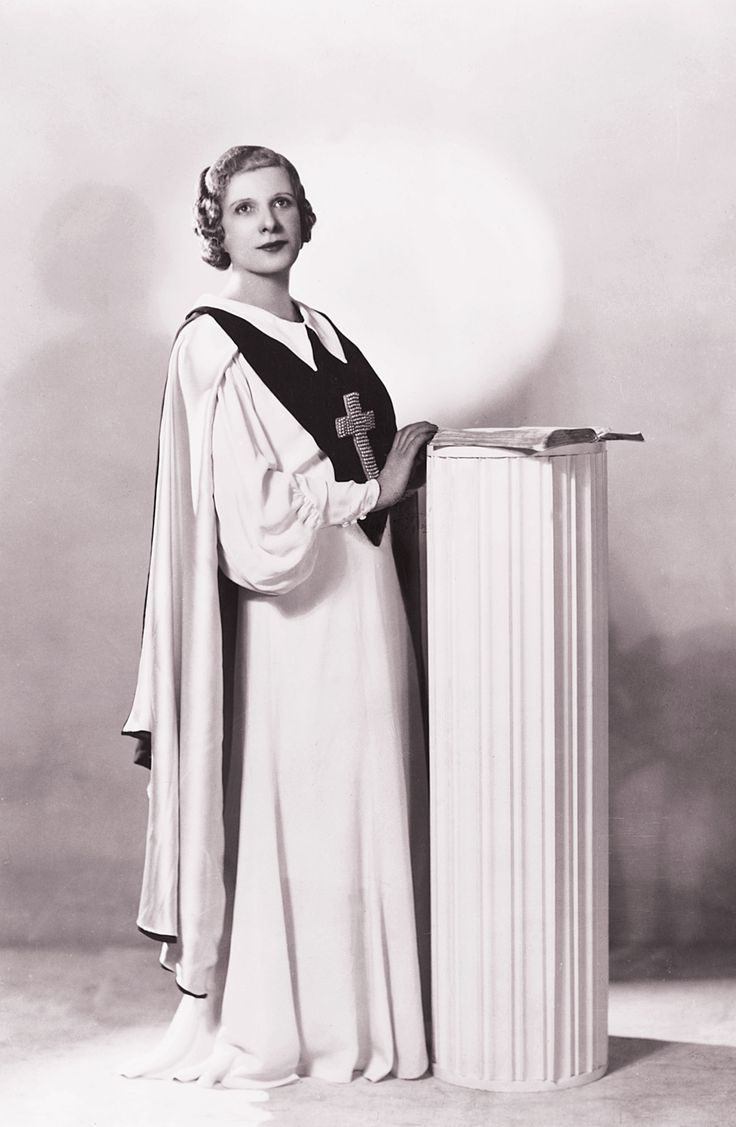 Aimee Semple McPherson,  the founder of The Foursquare Church. A powerful leader with a real heart for serving Jesus.