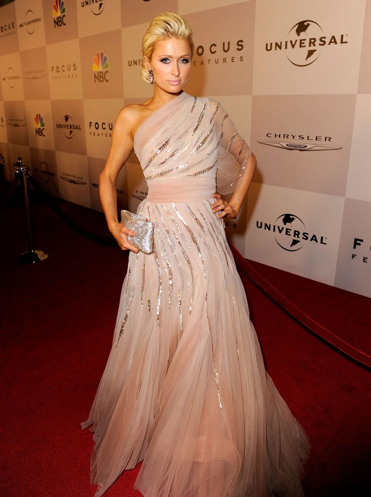 TV personality Paris Hilton arrives at NBCUniversal/Focus Features Golden Globes Viewing and After Party sponsored by Chrysler held at The Beverly Hilton hotel on January 16, 2011 in Beverly Hills, California.