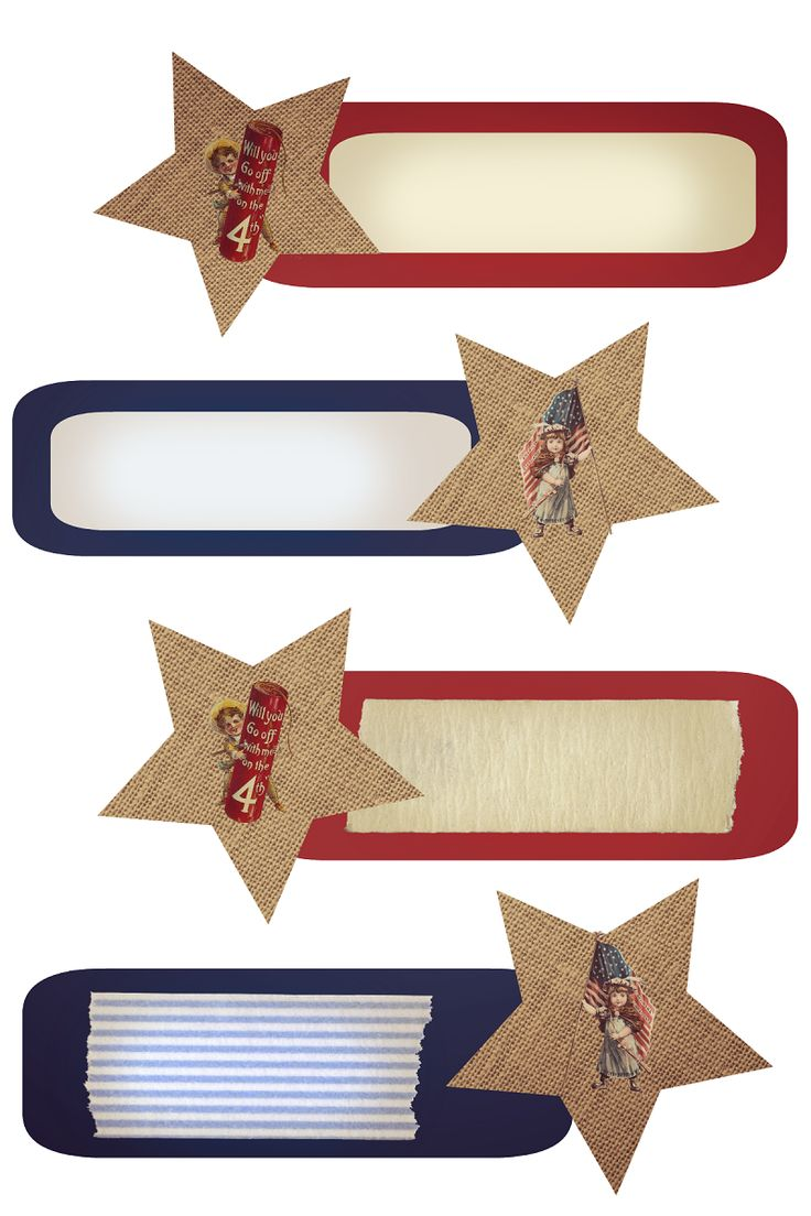 FREE   4th of July Photo Tags