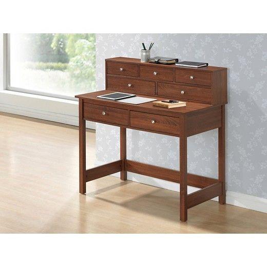 Elegant Desk with Storage Oak - Techni Mobili : Target