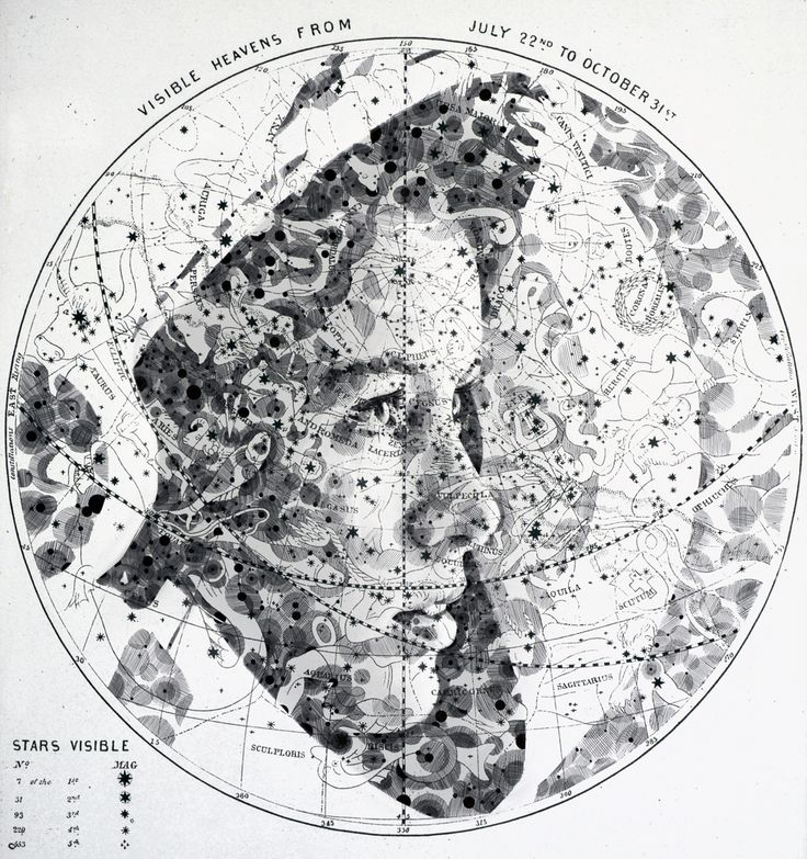 New Portraits Drawn on Maps and Star Charts by Ed Fairburn (artist). https://www.facebook.com/EdFairburnartist