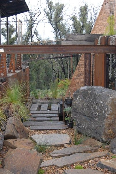 Love the industry landscape. This house was rebuilt after the Victorian bush fires.