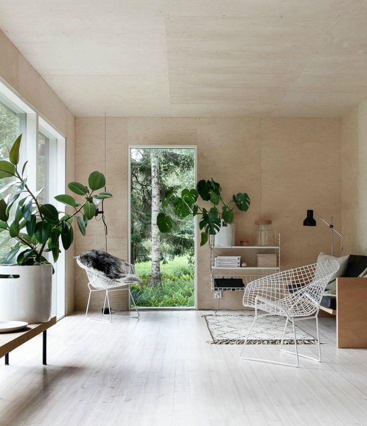 Natural living room. Cottage of Minna Jones.