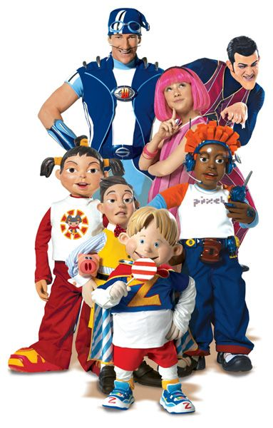 Lazy Town- I used to watch this with my brothers!...sadly