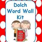 In this EDITABLE polka dot theme kit you will find word wall labels for all of the 220 Dolch Words. This includes the following lists: Pre-primer, ...