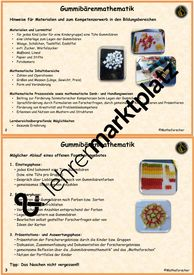 Gummibärenmathematik in der Kita Unterrichtsmaterial im